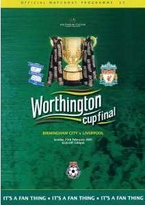 2001 LEAGUE CUP FINAL - LIVERPOOL v BIRMINGHAM